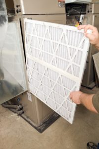 Change central air filter