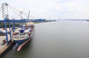 Port of Charleston Docked Ship