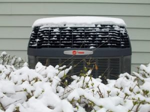Heat Pump in snow
